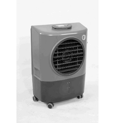 Hessaire MC18V 500 Square Foot Indoor/Outdoor Portable 1,300 CRM 3 Speed 4.8 Gallon Evaporative Cooler Humidifier with Continuous Auto Fill, Green