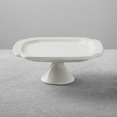 Stoneware Square Cakestand Medium - Cream - Hearth & Hand™ with Magnolia