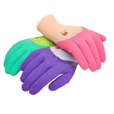 Women Garden Gloves with Micro Foam Nylon Latex Coated-G & F