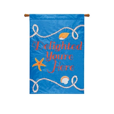 C&F Home Delighted You're Here Flag