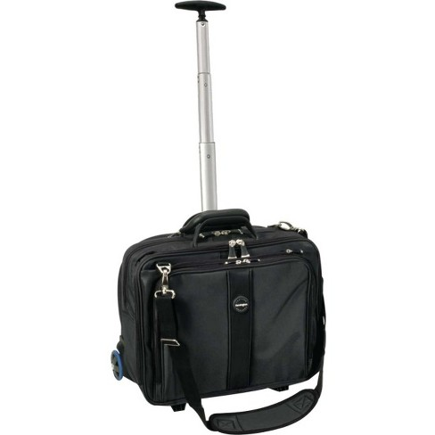 "Kensington Contour Carrying Case (Roller) for 17"" Notebook - Black, Gray - Telescoping Handle, Shoulder Strap - 17.5"" Height x 3"" Width x 9.5"" Depth - image 1 of 1"