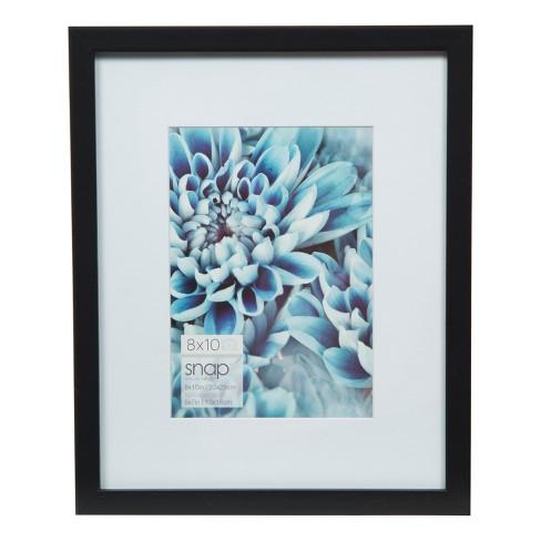 Single Image 8X10 Mat To 5X7 Black Wood Frame