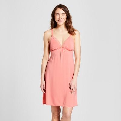 Women's Nursing Empire Nightgown - Gilligan & O'Malley™ Pom Pom Pink S