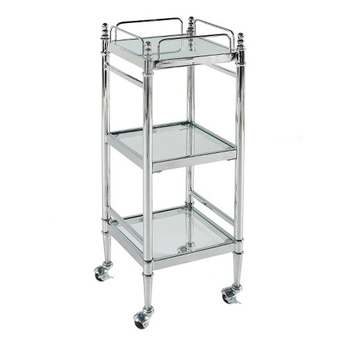 Pinnacle Cart Chrome - Linon - image 1 of 2