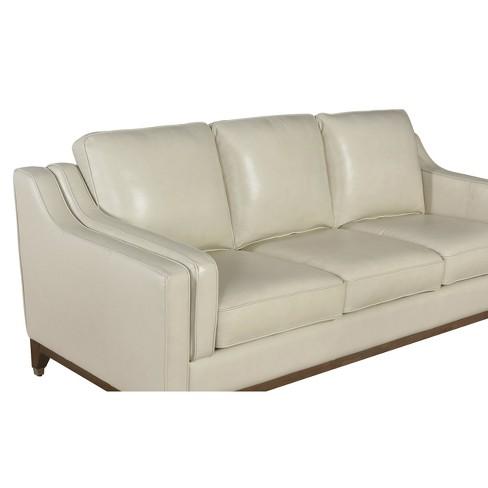 Allie Top Grain Leather Sofa Cream - Abbyson Living