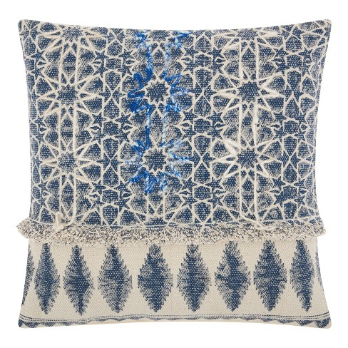 Vintage Indigo Mosaic Throw Pillow - Mina Victory - image 1 of 2