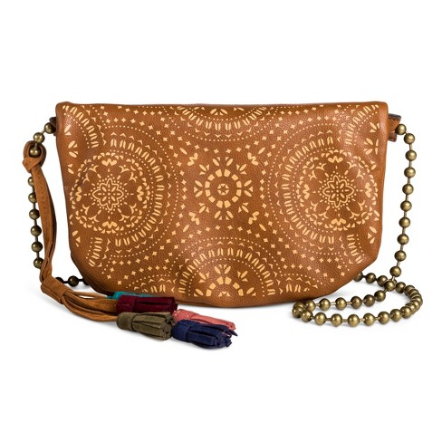 T-Shirt & Jeans Women's Laser Peel Crossbody Handbag with Chains - image 1 of 3