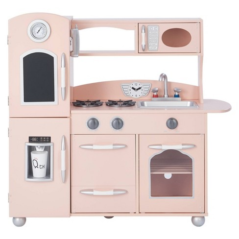 Teamson Kids Retro Wooden Play Kitchen - Pink
