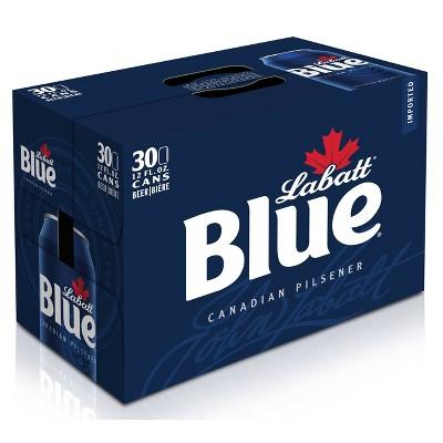 Labatt Blue Canadian Pilsener Beer - 30pk/12 fl oz Cans