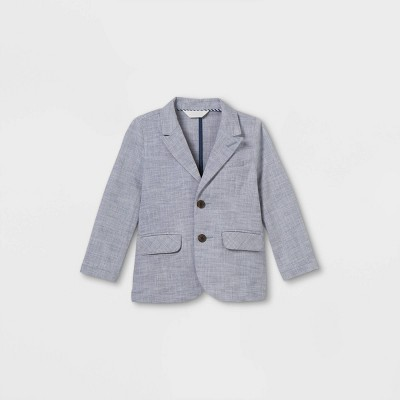 Toddler Boys' Stretch Chambray Blazer - Cat & Jack™ Blue