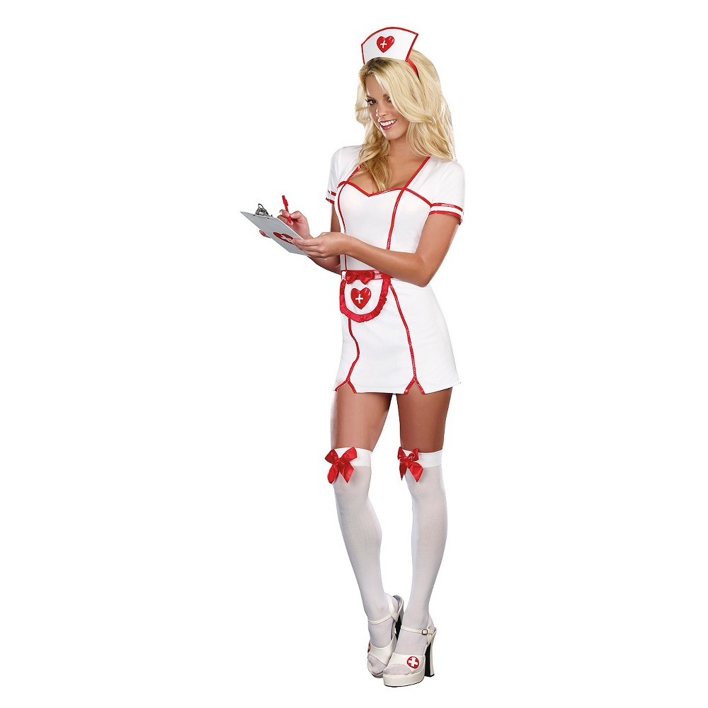 Women's Plus Size Nurse Costume 2X, White