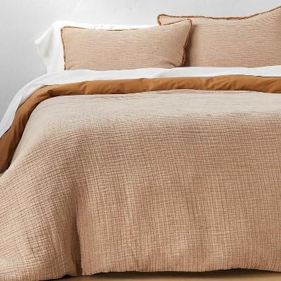 Textured Chambray Cotton Duvet & Sham Set - Casaluna™