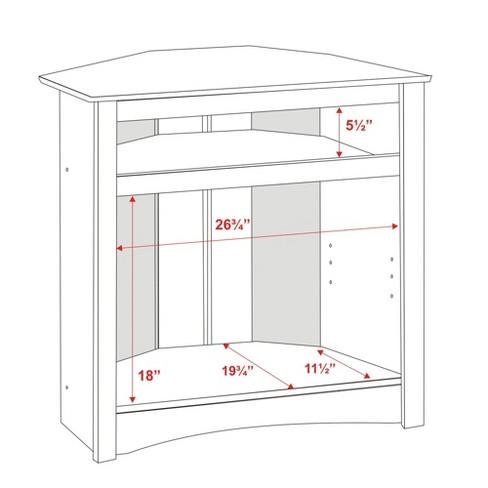 Tall Corner Tv Cabinet Black Prepac