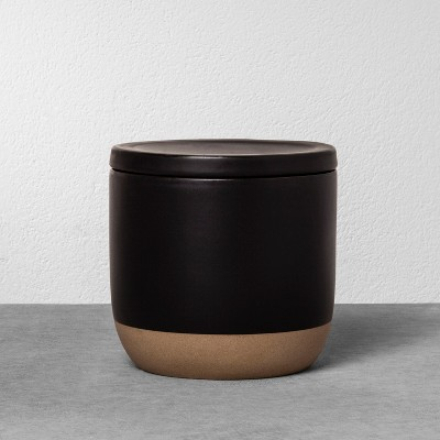 Stoneware Storage Canister Medium - Black - Hearth & Hand™ with Magnolia