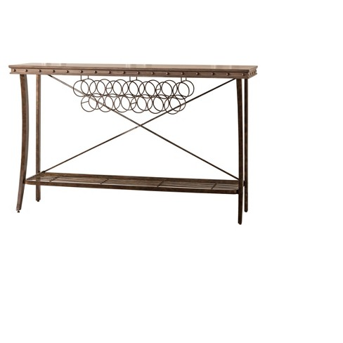 Emmons Wood & Metal Server - Washed Gray - Hillsdale Furniture - image 1 of 2