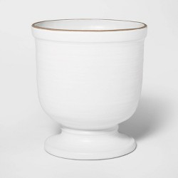 "10"" x 9"" Ceramic Planter White - Threshold™"