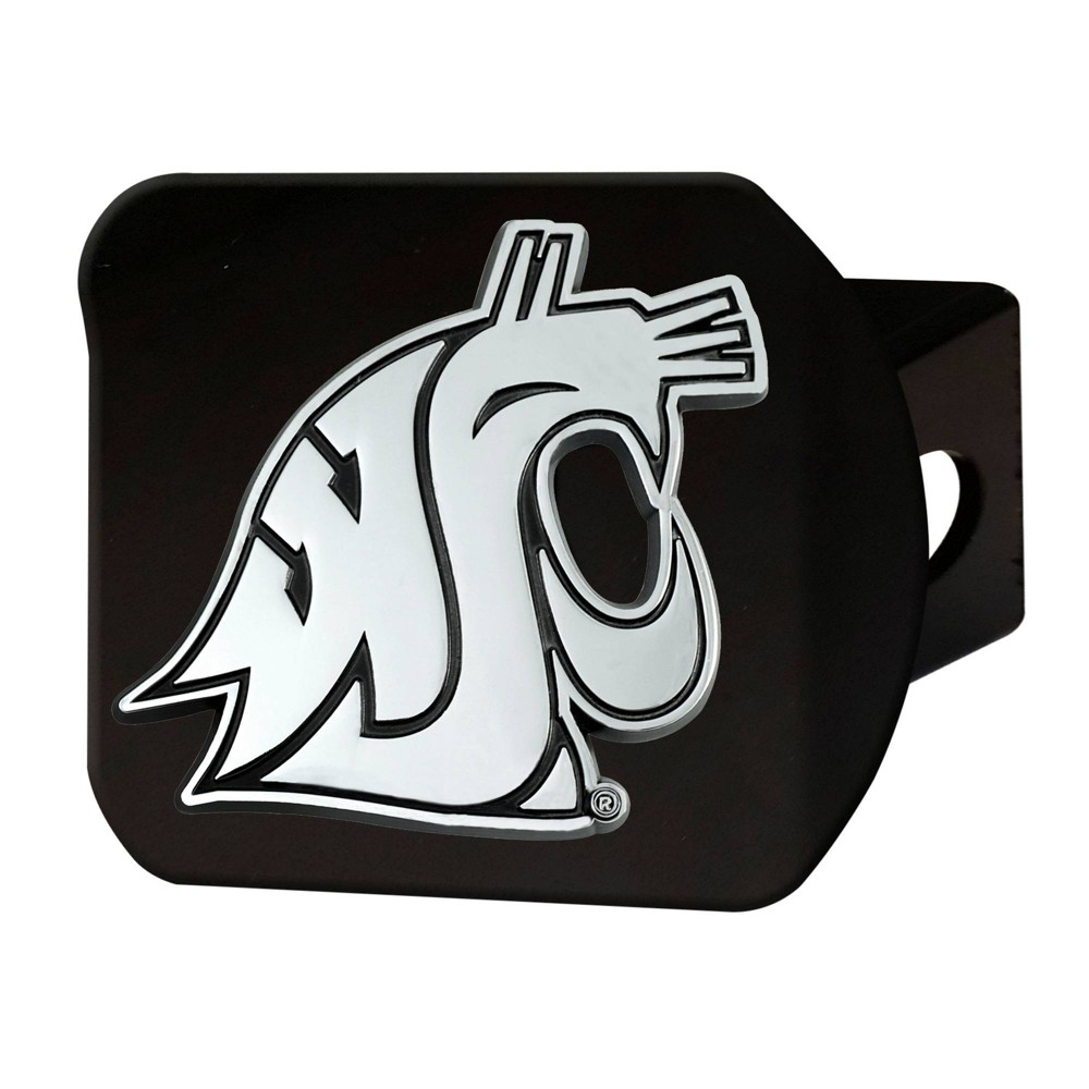 Ncaa Washington State Cougars University Chrome Metal Hitch Cover Black