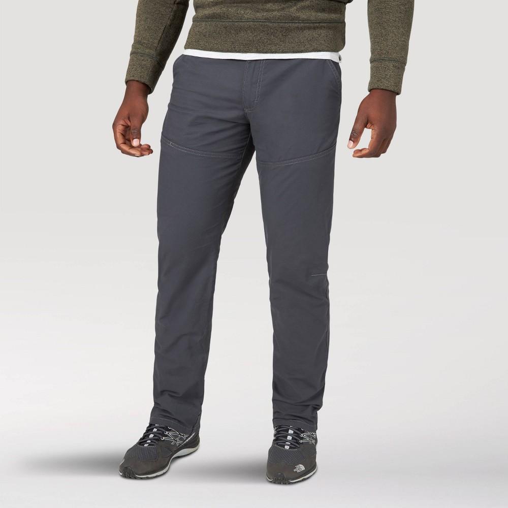 Wrangler Men 39 S Atg Canvas Straight Fit Slim 5 Pocket Pants Navy 36x32