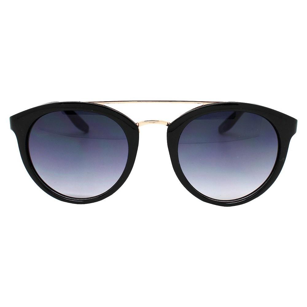 Women's Retro Sunglasses - Black