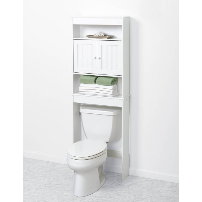Country Cottage Space Saver 3 Shelves Wood White - Zenna Home - image 1 of 3
