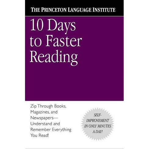 10 Days to Faster Reading - by  Abby Marks-Beale (Paperback) - image 1 of 1