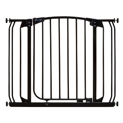 Dreambaby L778B Chelsea 28-39 Inch Wide Auto-Close Baby & Pet Wall to Wall Safety Gate with Stay Open Feature for Doors, Stairs, and Hallways, Black