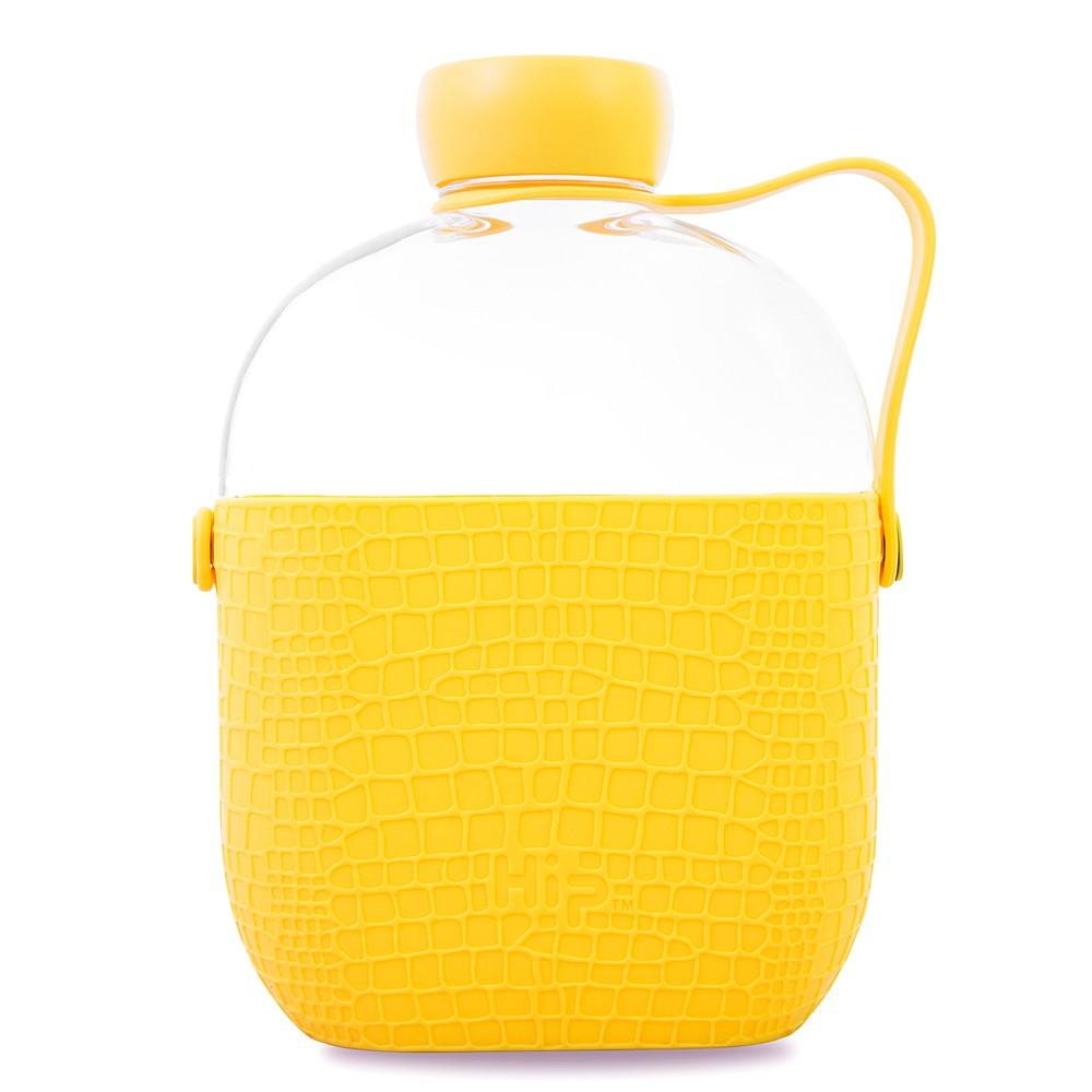 Hip Bpa-Free Tritan Portable Water Bottle with Side-Strap 22oz - Yellow