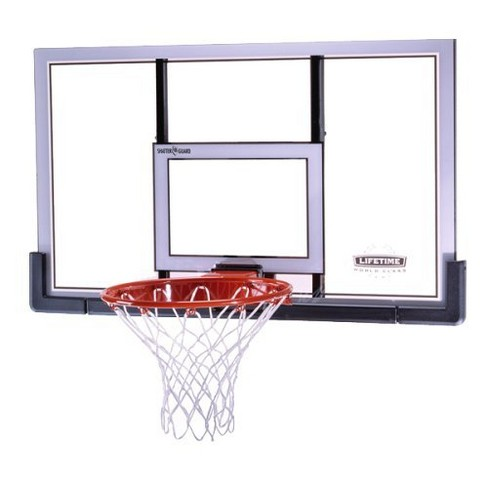 "Lifetime 48"" Polyethylene Backboard and Rim Combo Basketball Hoop - image 1 of 1"