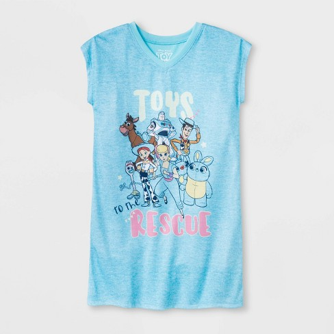Girls' Toy Story Dorm Nightgown - Blue - image 1 of 1