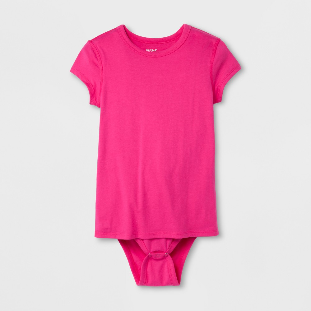 Girls' Adaptive Bodysuit - Cat & Jack Pink XL