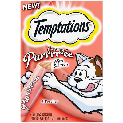 Temptations Creamy Puree Salmon Cat Treats - 1.7oz