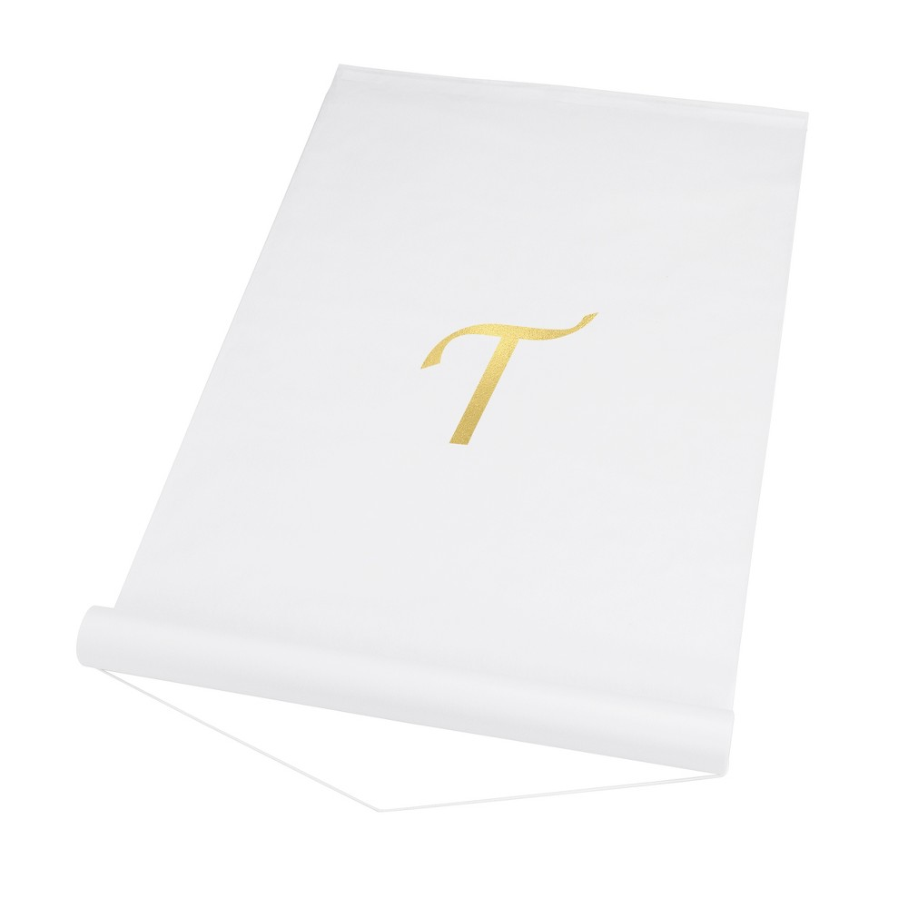 34 T 34 Personalized Wedding Aisle Runner White
