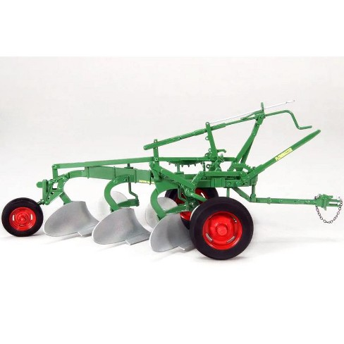 """Oliver 3-Bottom Plow Master on Rubber Tires Green """"Classic Series"""" 1/16 Diecast Model by SpecCast - image 1 of 2"""