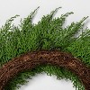 "18"" Faux Cedar Wreath - Hearth & Hand™ with Magnolia - image 2 of 4"