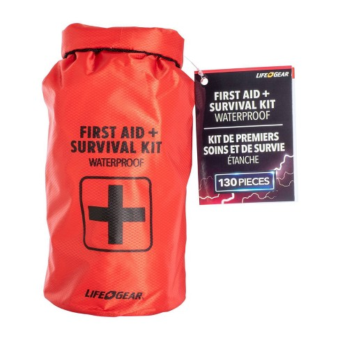 Life+Gear 130pc Waterproof Dry Bag First Aid + Survival Kit - image 1 of 4
