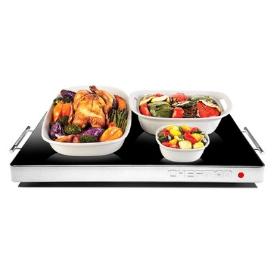 Chefman Electric Glass Warming Tray with Temperature Control