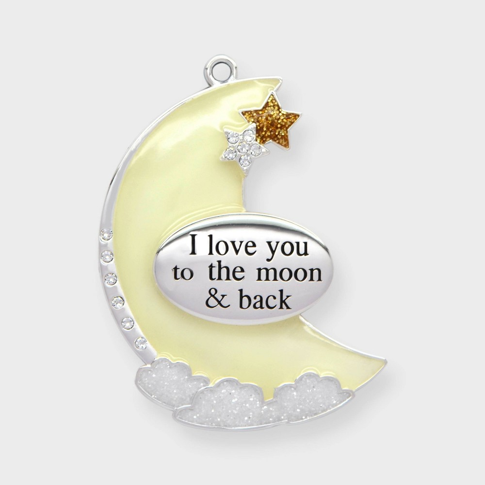 Image of Crystals from Swarovski - Harvey Lewis - Love you to the Moon & Back Christmas Ornament Yellow