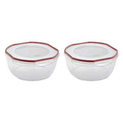 Sterilite Ultra Seal 8.1 Quart Plastic Food Storage Bowl Container (2 Pack)