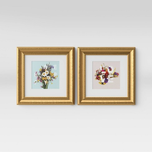 "Set of 2 12""x12"" Love and Be Happy Framed Wall Print  - Opalhouse™ - image 1 of 4"