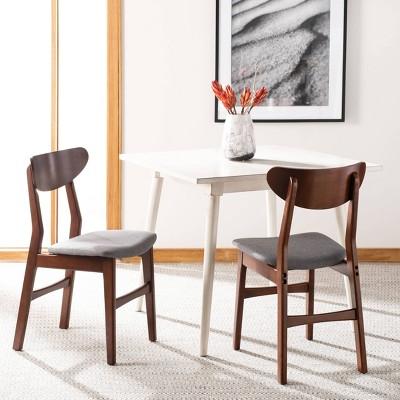 Set Of 2 Lucca Retro Dining Chair Cherry/Gray - Safavieh : Target