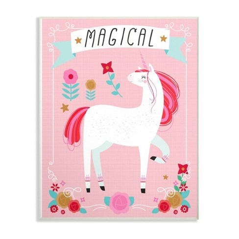 "10""x0.5""x15"" Magical Colorful Unicorn Wall Plaque Art - Stupell Industries - image 1 of 1"