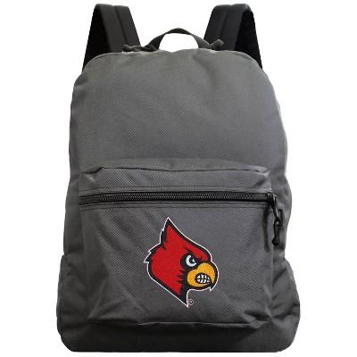 NCAA Louisville Cardinals Gray Premium Backpack