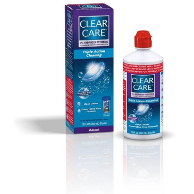 Clear Care Triple Action Cleaning and Disinfecting Solution - 12oz