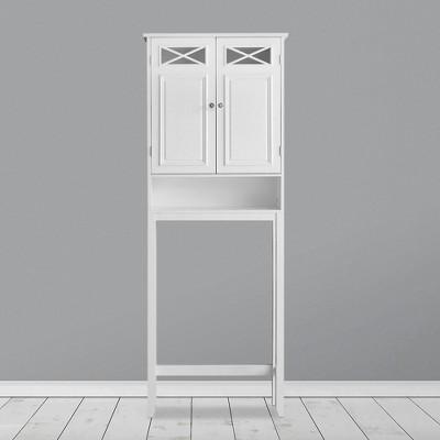 Dawson Over the Toilet Storage Etagere White - Elegant Home Fashions