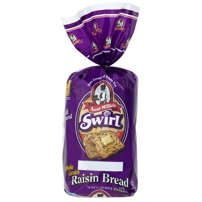 Aunt Millie's Whole Grain Cinnamon Raisin Bread - 16oz