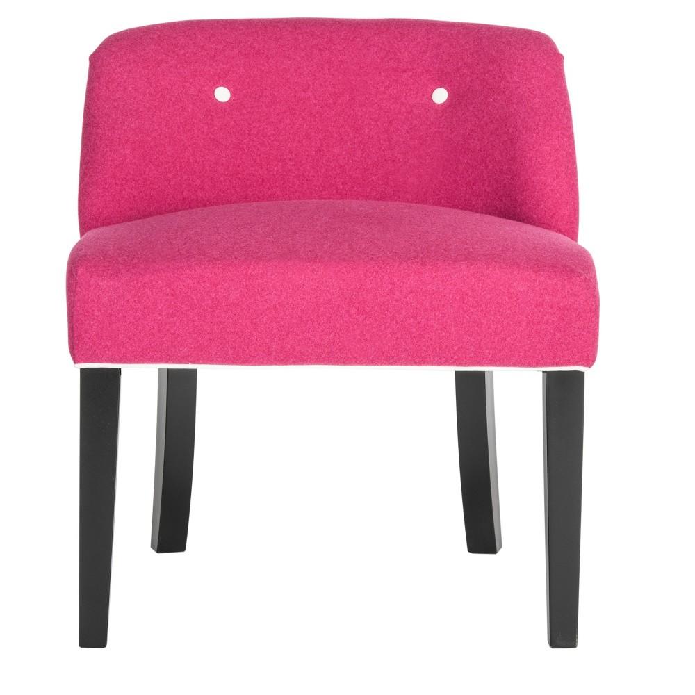 Bell Vanity Chair - Berry (Pink) / White - Safavieh