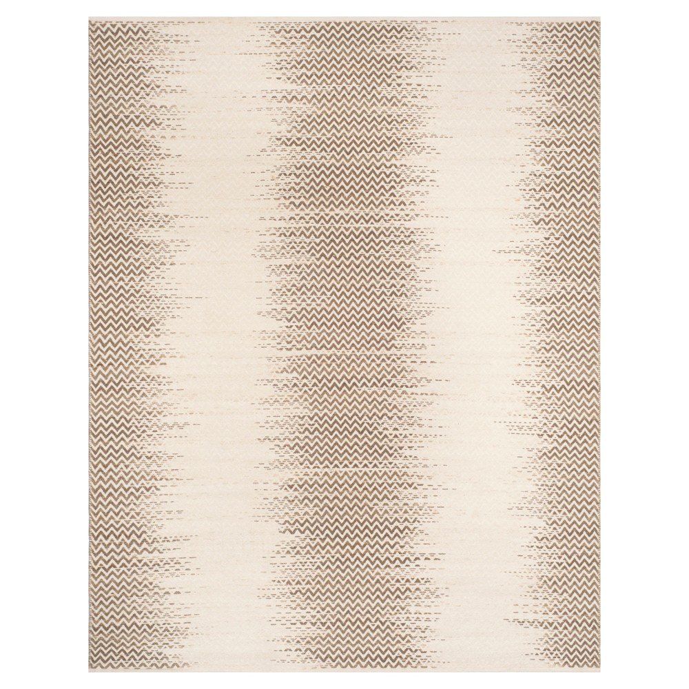 Brown/Ivory Abstract Hooked Area Rug - (8'X10') - Safavieh