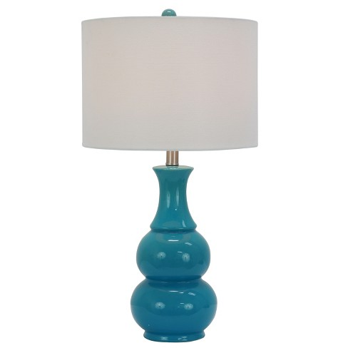 Harper Ceramic Table Lamp Teal Lamp Only Decor Therapy Target