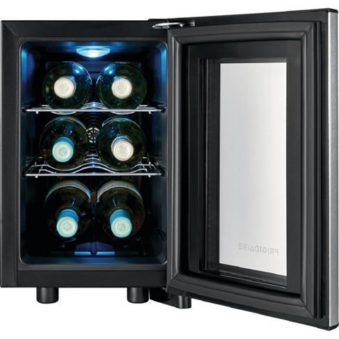 Frigidaire 6 Bottle Stainless Steel Wine Cooler Black - FFWC0622US