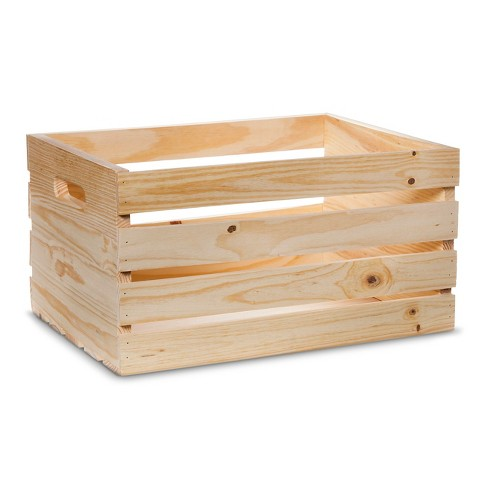 Hand Made Modern Wooden Crate Pine